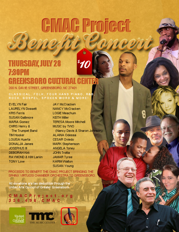 CMAC Project Benefit Concert Flier