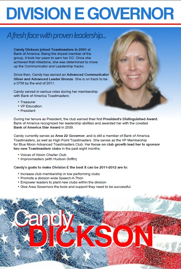 Campaign Poster for Candy Dickson