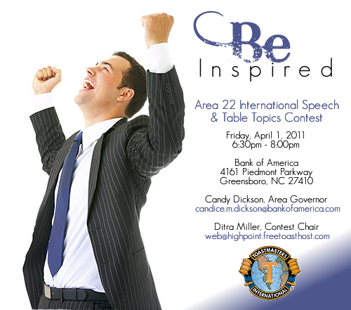 Event Flier for Toastmasters