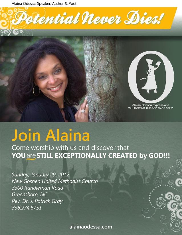 Event Flier for Alaina Odessa