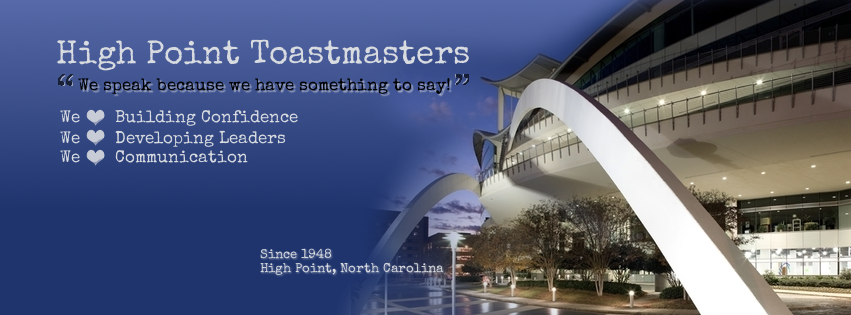Facebook Cover for High Point Toastmasters