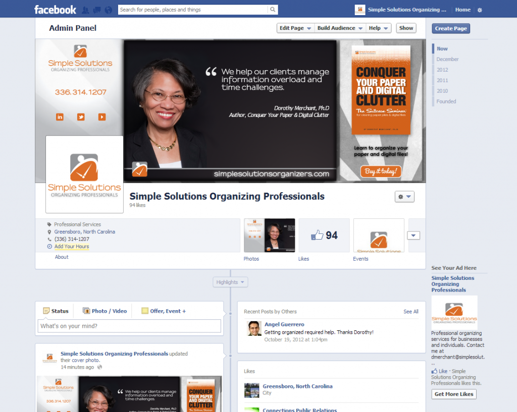 Facebook Cover Image | Simple Solutions Organizing Professionals