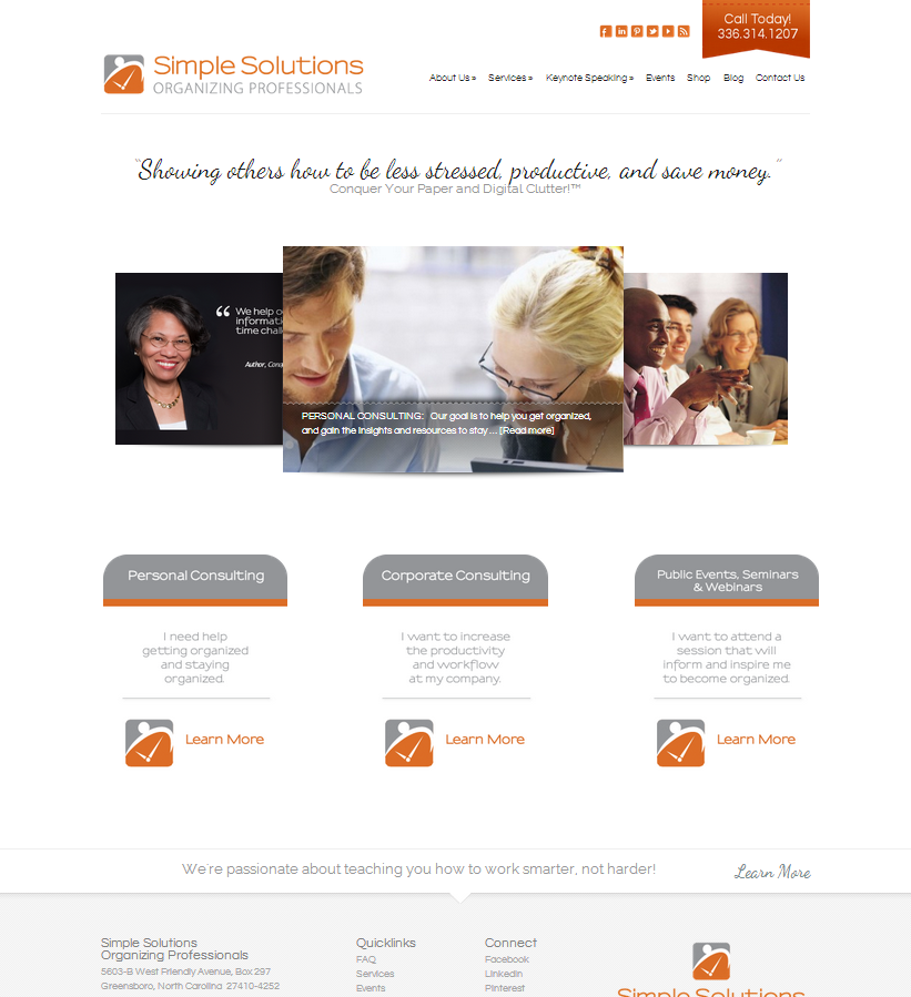 Simple Solutions Organizing Professionals Website