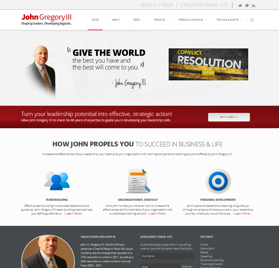 John Gregory III, LLC – Motivational Speaker